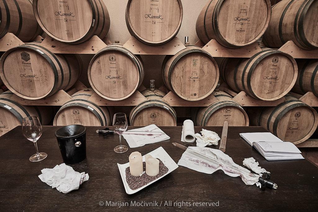 Winemaker's working space